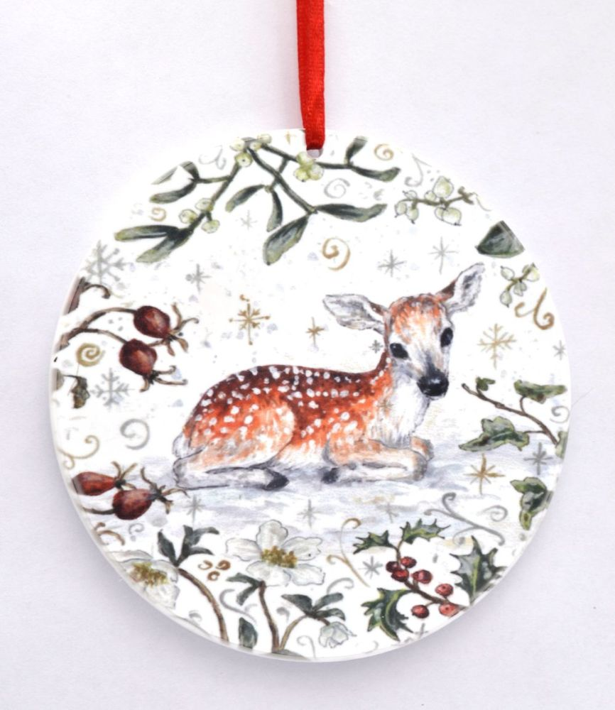 Bauble  - Winter Fawn