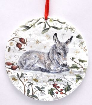 Bauble  - Winter Donkey