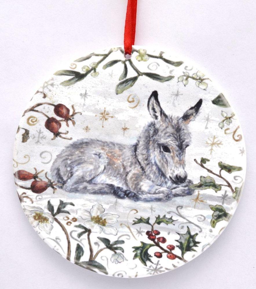 Bauble  - Winter Donkey