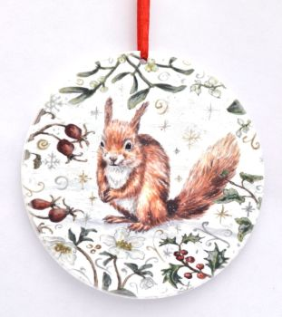 Bauble  - Winter Squirrel