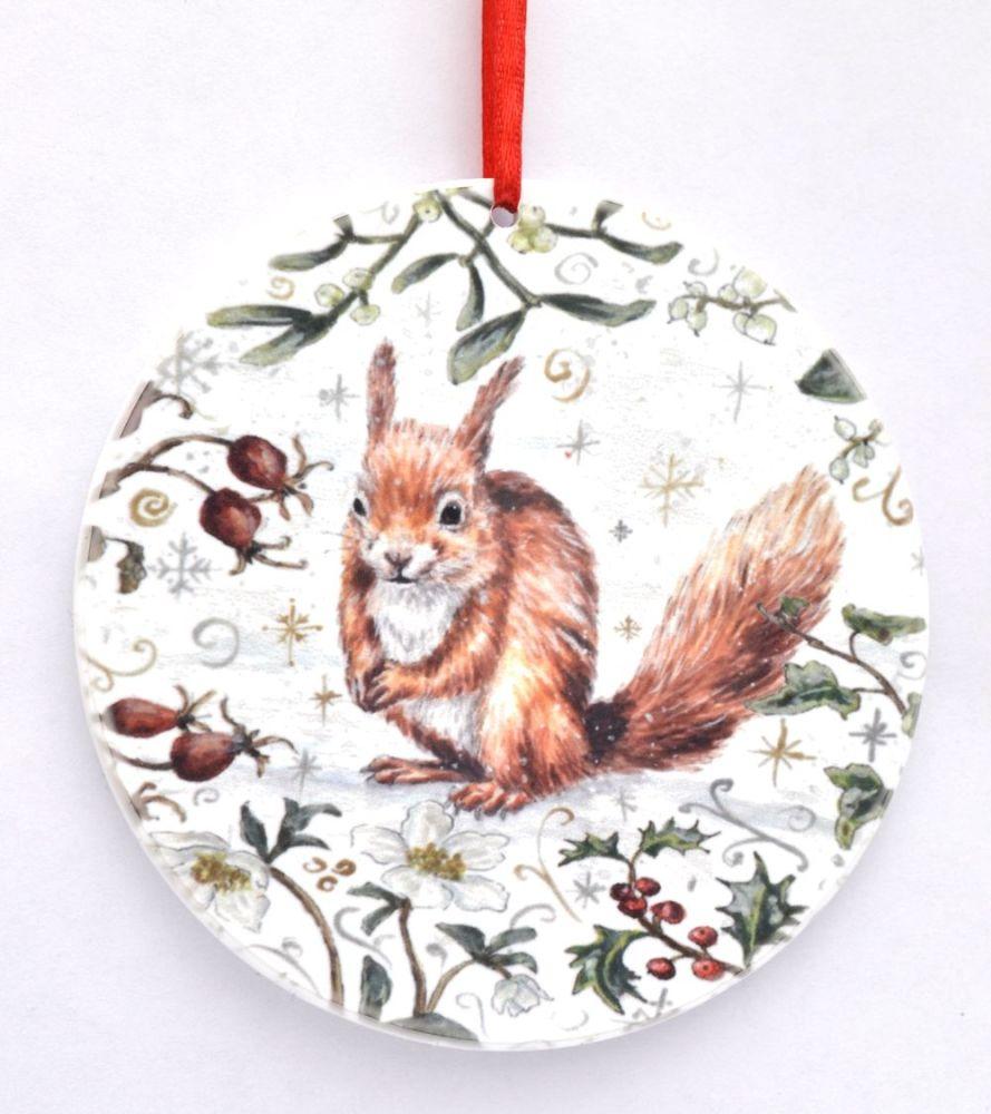 Bauble  - Winter Squirrel