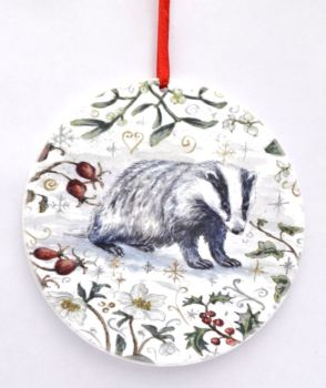 Bauble  - Winter Badger