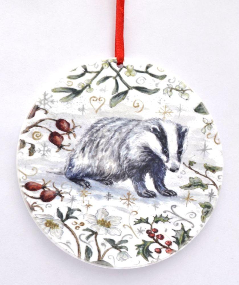 Bauble  - Winter Badger