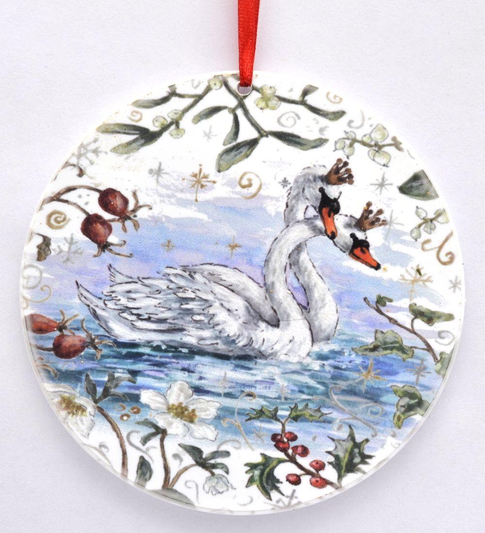 Bauble  - Winter Swans