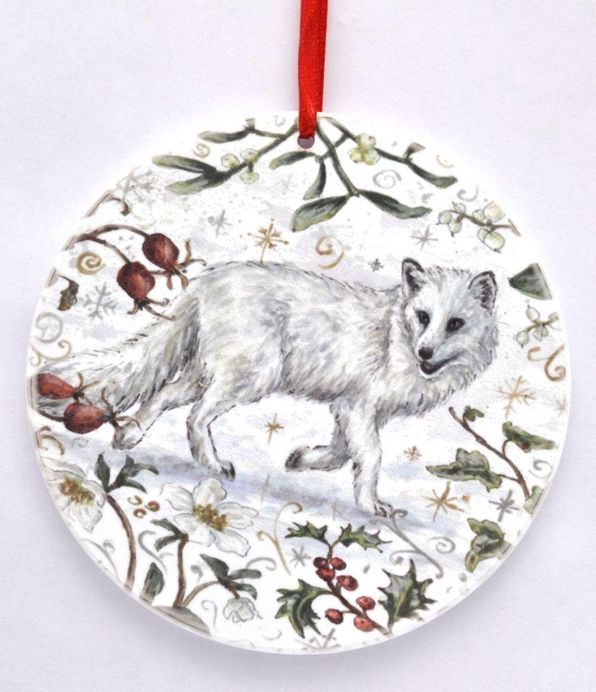 Bauble  - Winter Arctic Fox