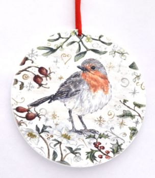 Bauble  - Winter Robin