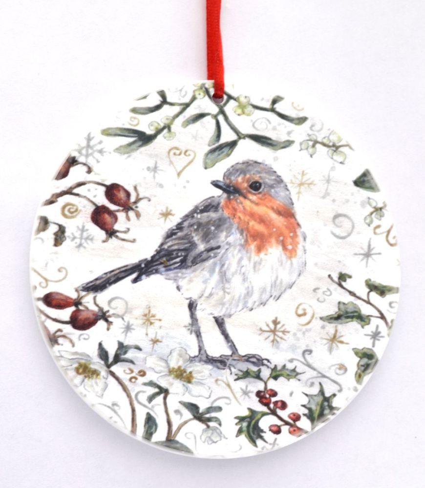 Bauble  - Winter Robin
