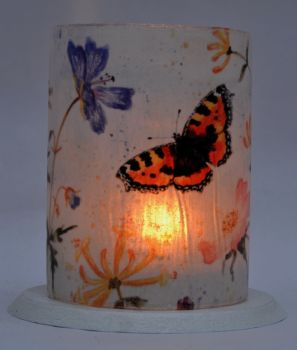 LED Tealight Lanterns - Tortoiseshell butterfly mix