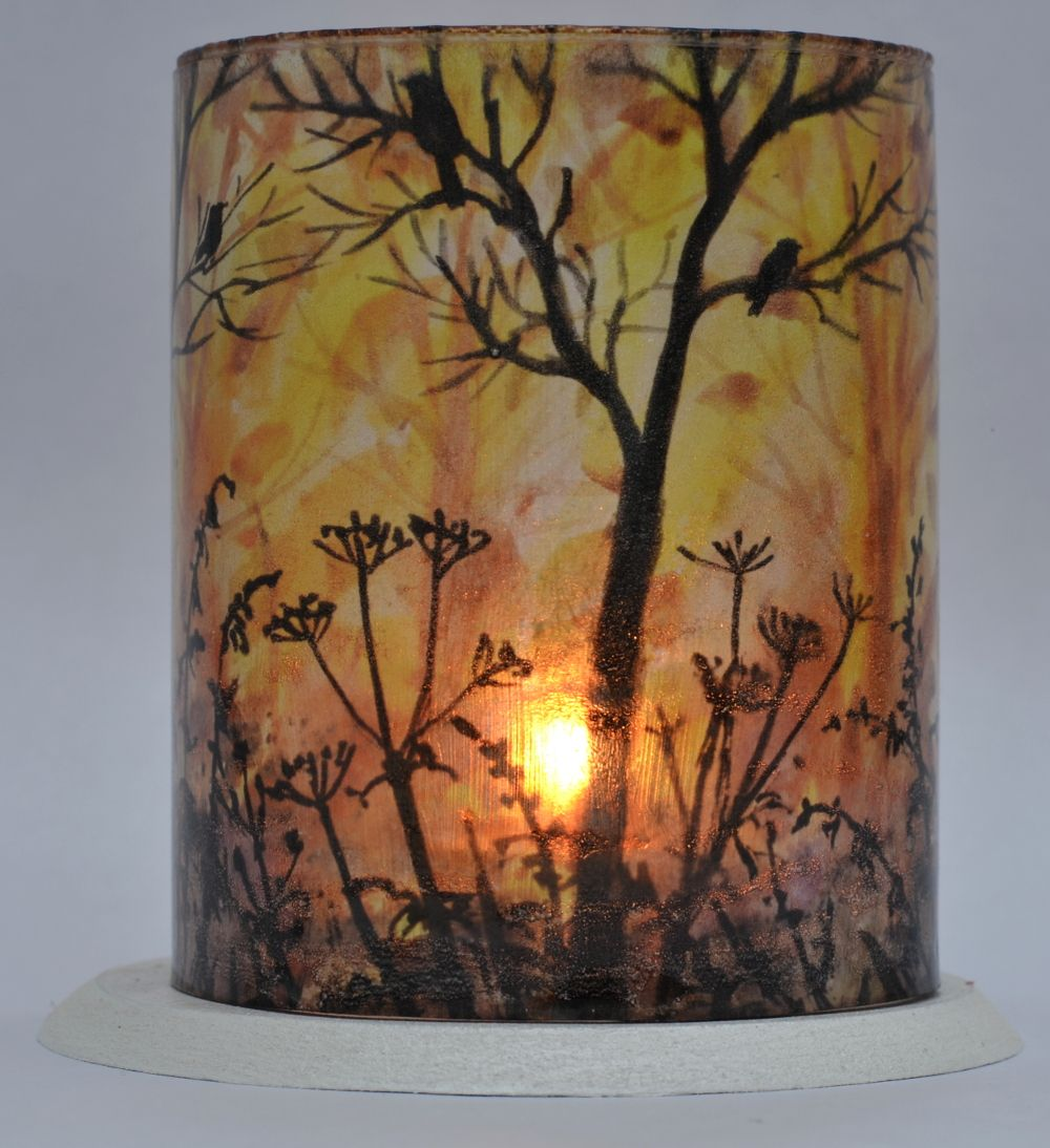 LED Tealight Lanterns - Silhouette Trees