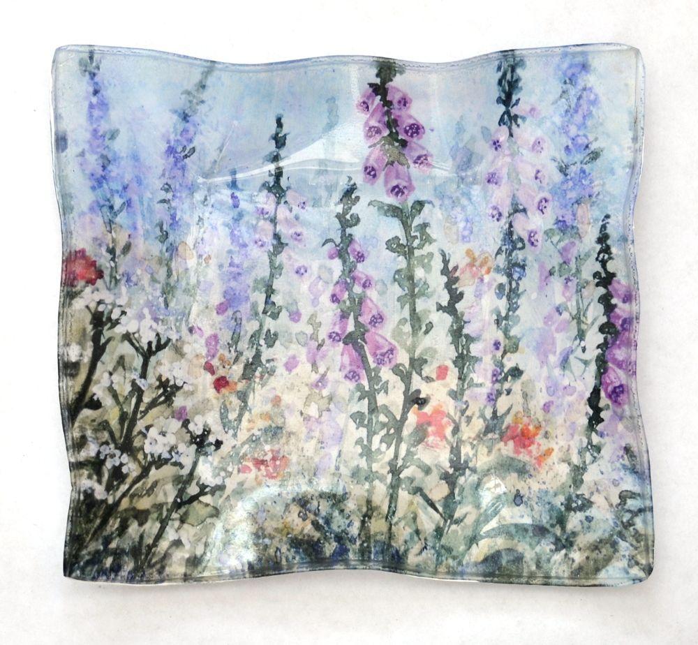 Soap Dish - Summer Garden Foxgloves