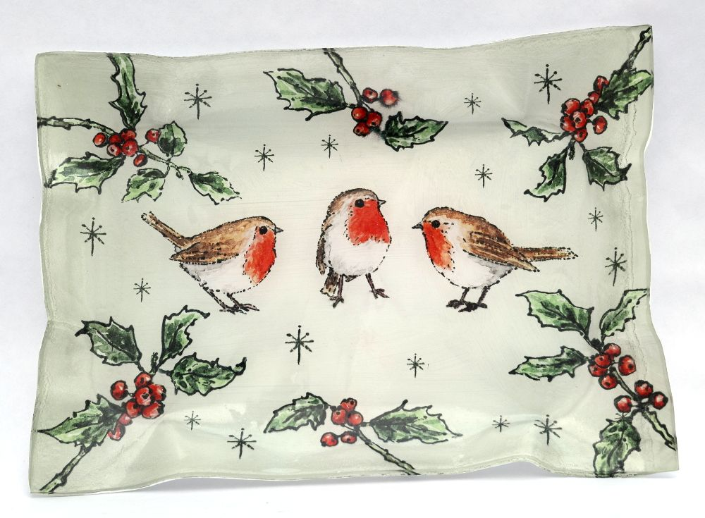 Tray - Three Robins - Large Tray