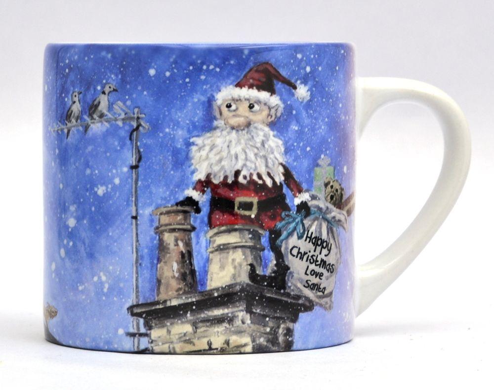 KM- Santa in a chimney.