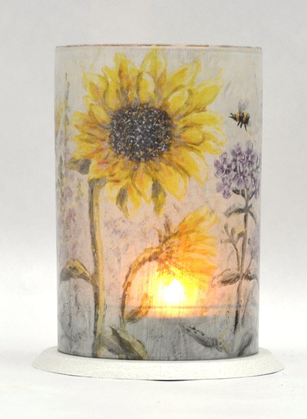 LED Tealight Lanterns - Sunflowers