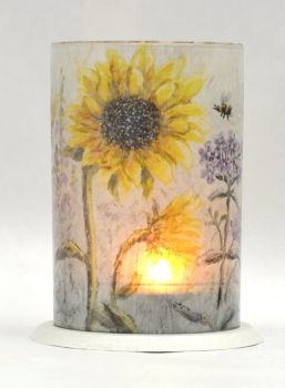 LED Tealight Lanterns - Sunflowers