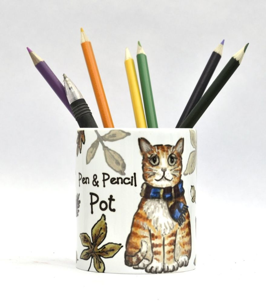 Tidy Pot - Autumn Cat