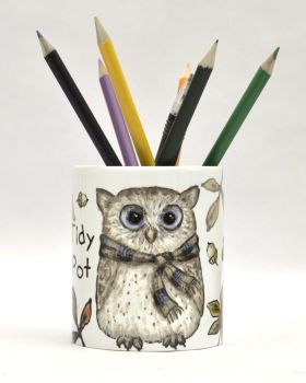 Tidy Pot - Autumn Owl