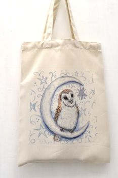 Bag - Owl in the Moon looking at the Stars