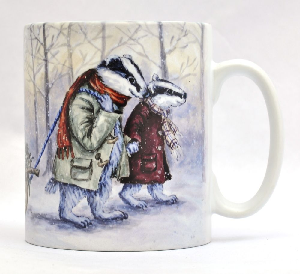 Mugs & Coasters- Badgers Sledge