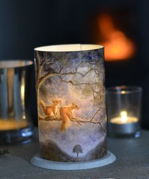 LED Tealight Lanterns - Moon Squirrels