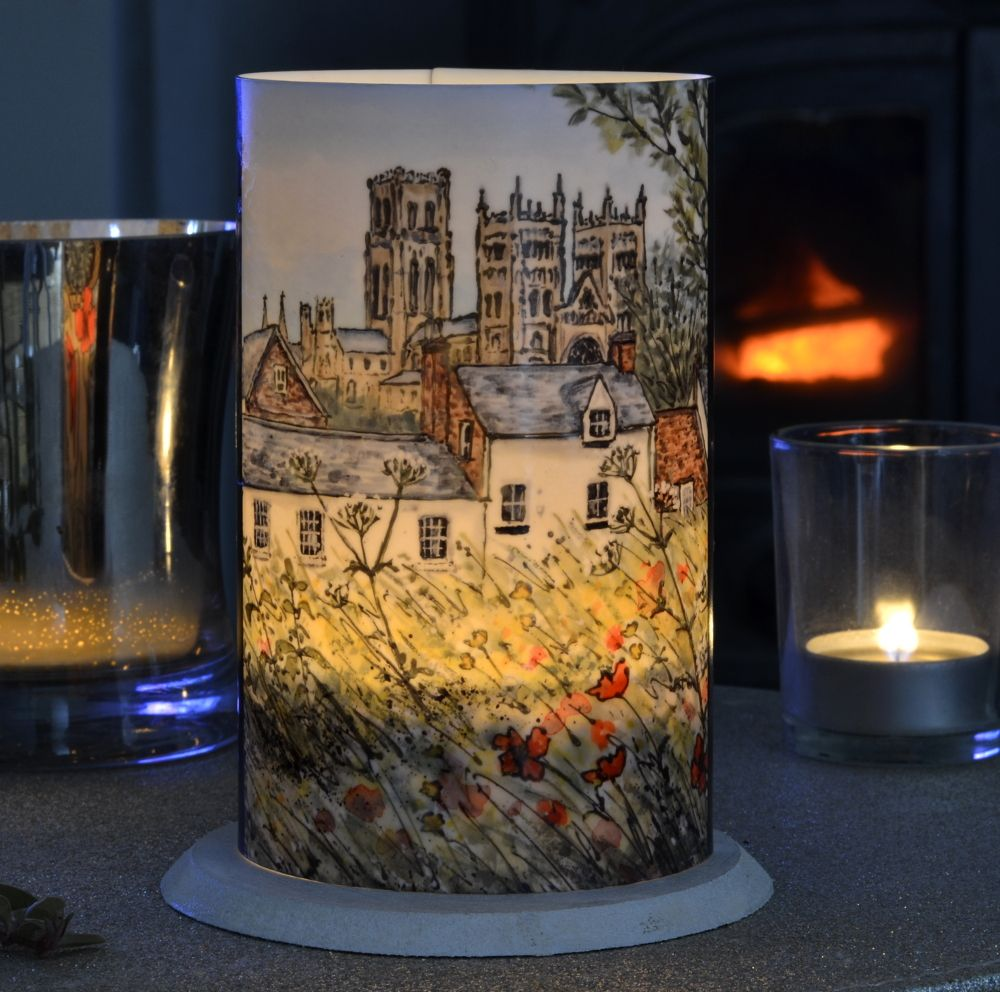 LED Tealight Lanterns - Durham Poppies