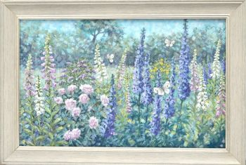 Original Oil Painting - Butterfly Garden - Sold