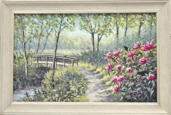 Original Oil Painting - Rhododendron Wood
