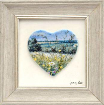 Framed Heart - Daisy Meadow