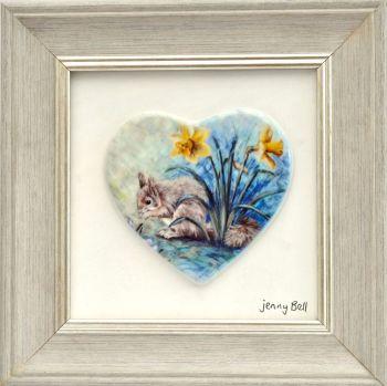 Framed Heart - Spring Squirrel