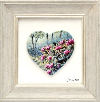 Framed Heart - Rhododendron Wood