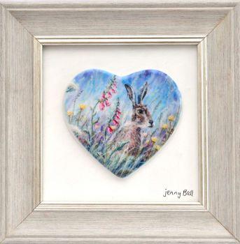 Framed Heart - Hare