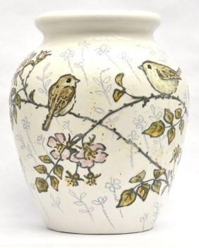 S  Vases - Birds & Roses