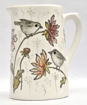 Jug - Little Birds & Dahlias