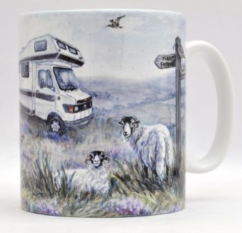 Mugs & Coasters - Motorhome in the Moors