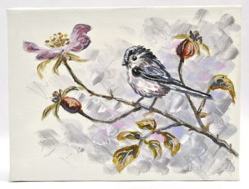 Small Canvas - Long Tailed Tit & Roses