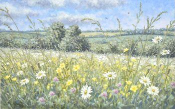 Original Oil Painting - Daisy Meadow