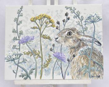 Original Acylic Painting - Hare & Weeds