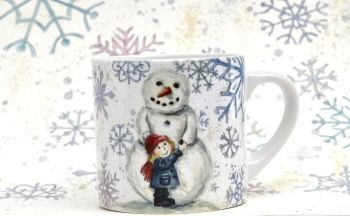 Child's Mug- Do you want to build a Snowman - Girl