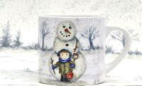 Child's Mug- Do you want to build a Snowman - Boy