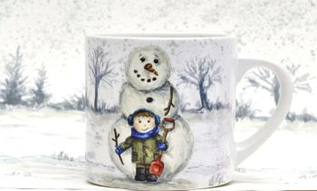 Child's Mug- Do you want to build a Snowman - Boy