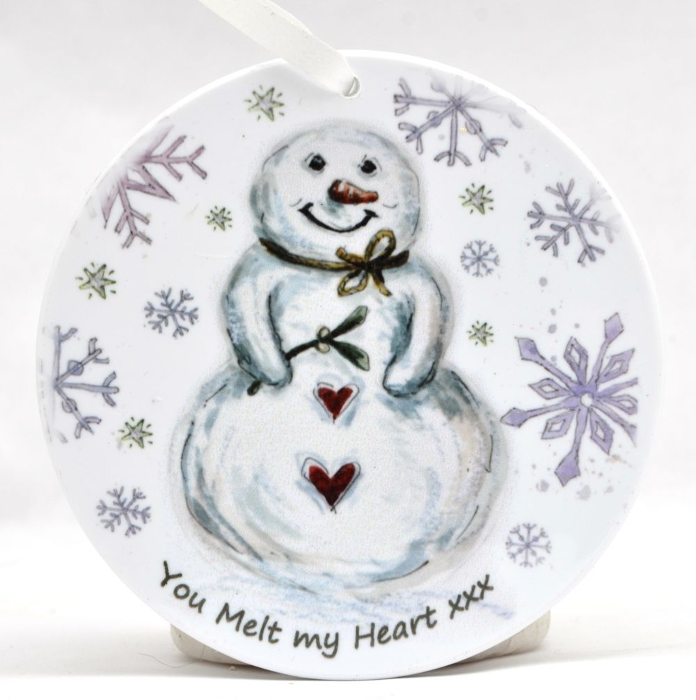 Bauble - Do you want to build a Snowman - Heart