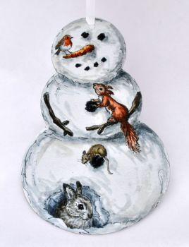 Snowman - Squirrel/Rabbit