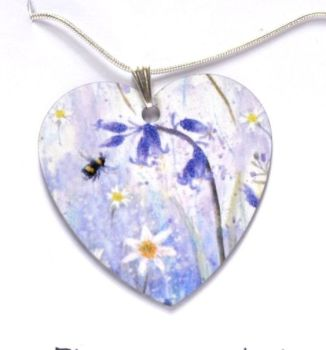 Pendant or Earrings - Bluebells