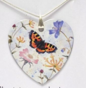 Pendant or Earrings - Tortoiseshell Butterfly - Summer Mix