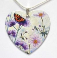 Pendant or Earrings - Tortoiseshell Butterfly - Verbena