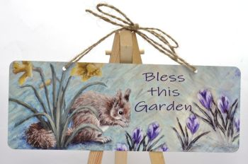 Garden Sign - Spring Squirrel