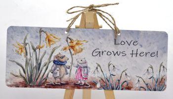 Garden Sign - Spring Mice