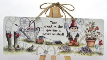Garden Sign - Time Gnome
