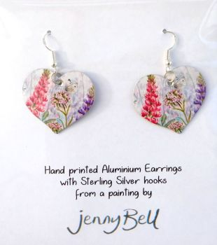 Pendant or Earrings - Butterfly & Sweet William