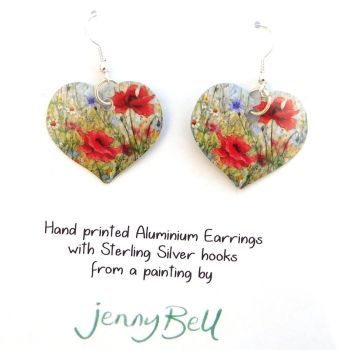 Pendant or Earrings - Poppies