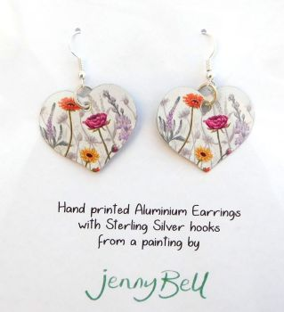 Pendant or Earrings - Gerbera Daisy Mix
